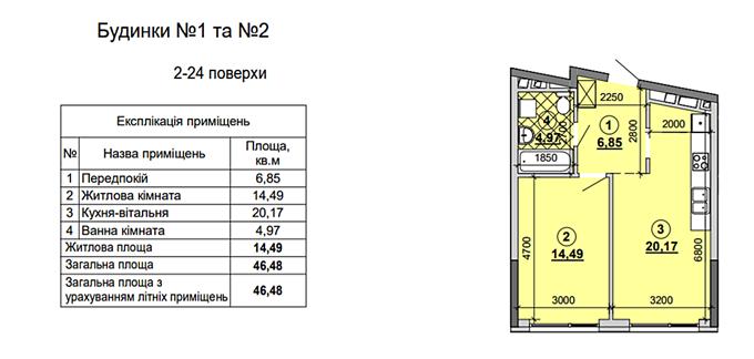 ЖК Грейт на Позняках планировка однокомнатной квартиры