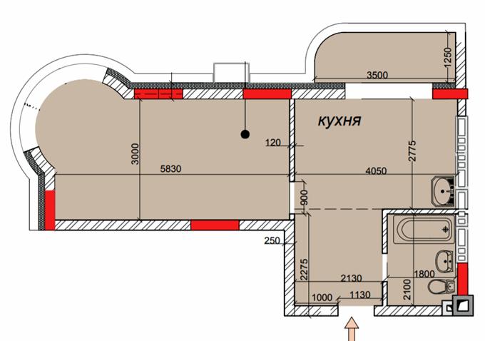ЖК Садочок в Новоселках планировка квартиры с эркером