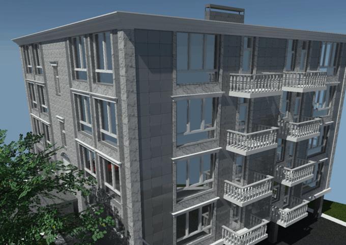 ЖК Ширма Клаб в Киеве фасад и балконы