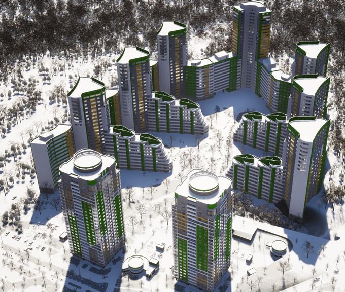 ЖК Паркове мисто визуализация