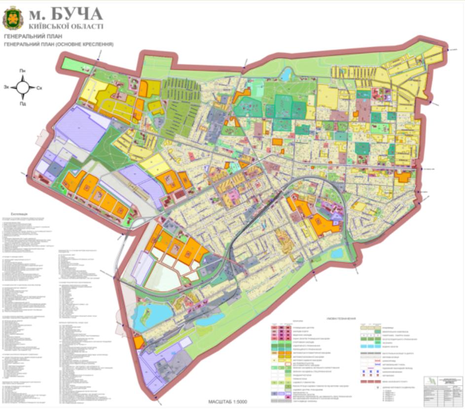 Детальный план территории Бучи генплан