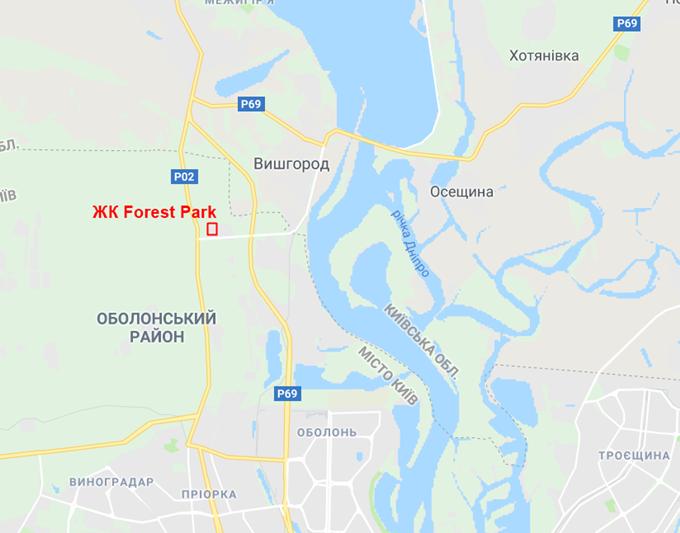 ЖК Форест парк от Зим Кепитал Групп на карте