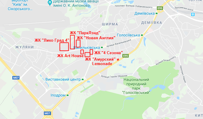 ЖК Арх Хаус от Укрбуд на карте