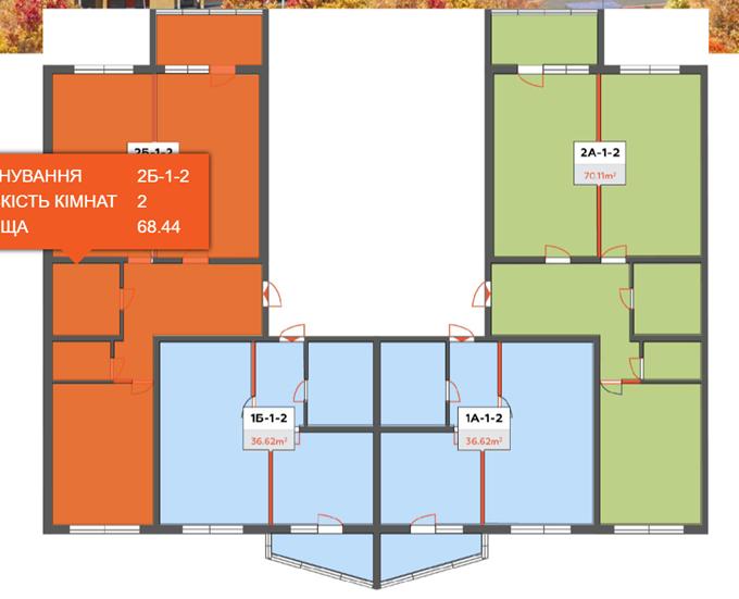 ЖК Привітний квартал Велкам Хоум в Бортничах поэтажный план