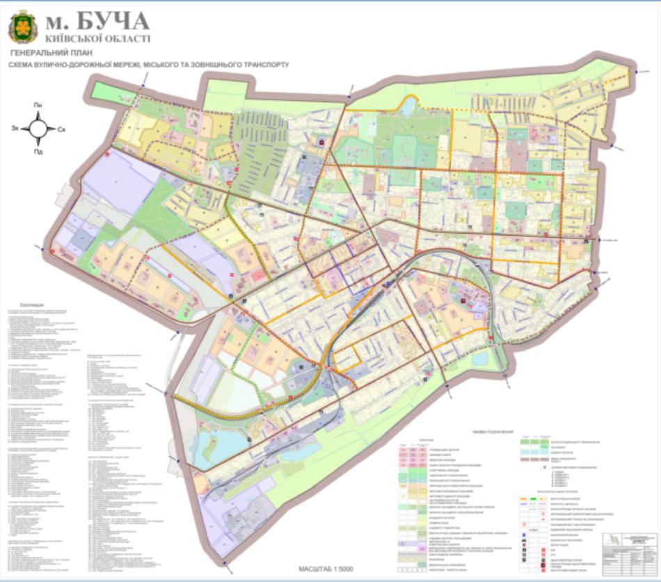 Детальный план территории Бучи транспортная система