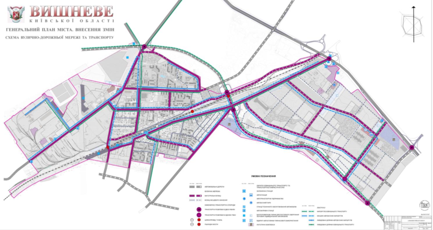 ДПТ Вишневого транспортная сеть