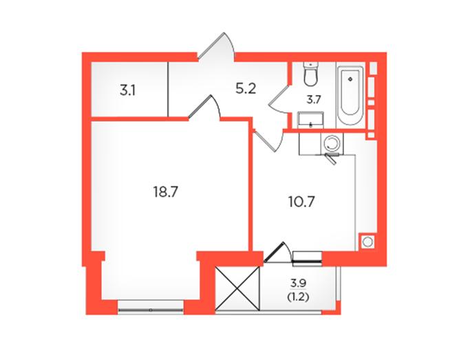 ЖК Скандия в Броварах планировка однокомнатной квартиры