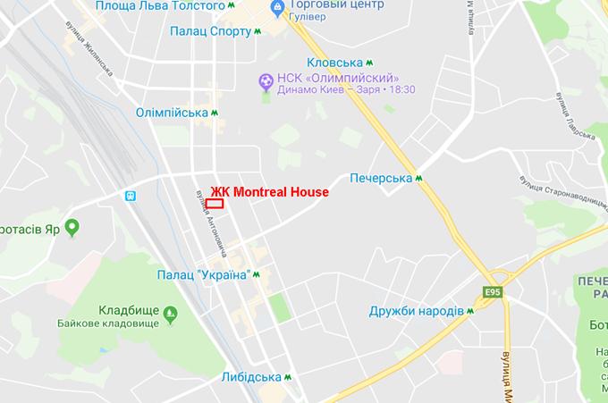 ЖК Монреаль Хаус на карте