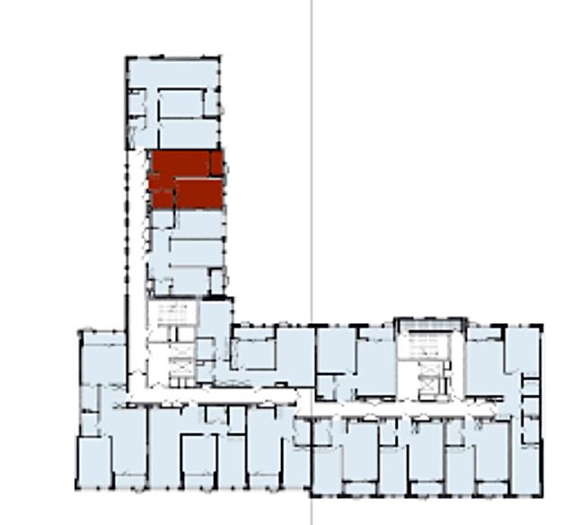 ЖК Монреаль Хаус поэтажный план второй секции