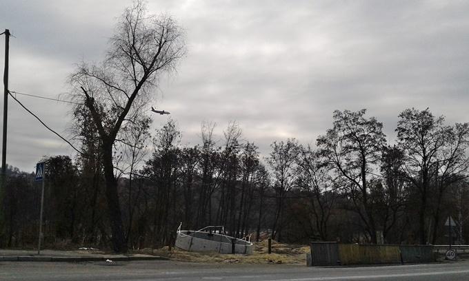 ЖК Совские пруды вид из окон на самолеты
