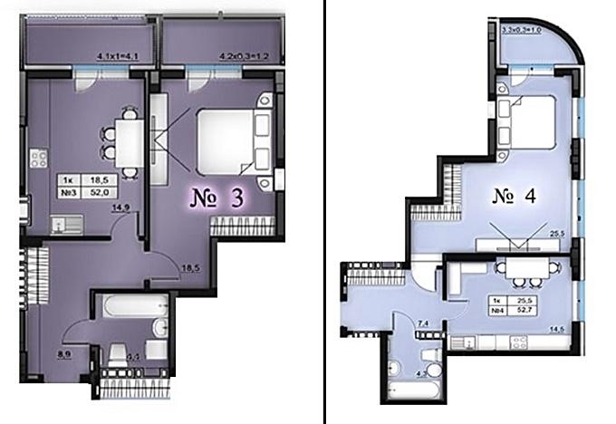 Клубный дом Эдельвейс Феофании планировки однокомнатных квартир