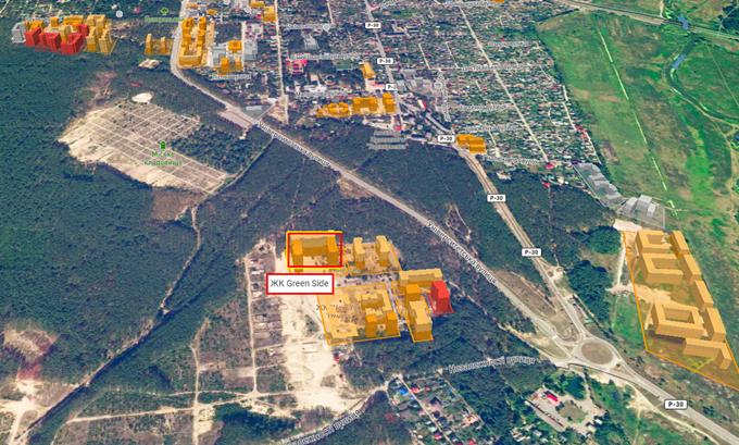 ЖК Грин Сайд в Ирпене на карте