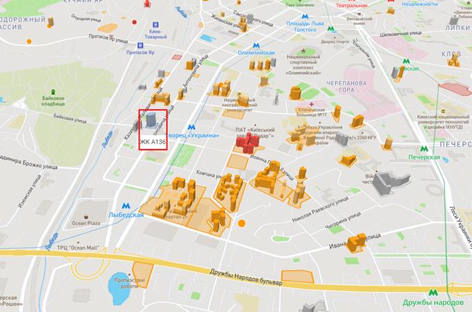 ЖК А136 Хайлайт Хаус на карте