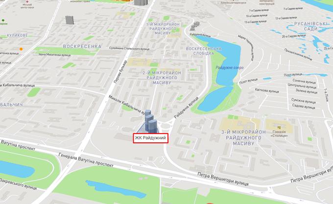 ЖК Радужный от КГС на карте