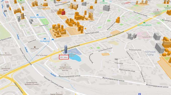 ЖК Салют от буд девелопмент на карте