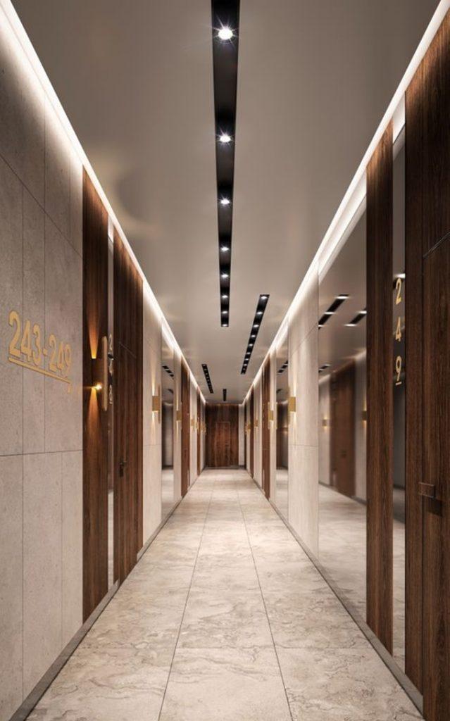 ЖК А136 Хайлайт Хаус коридор и подьезд