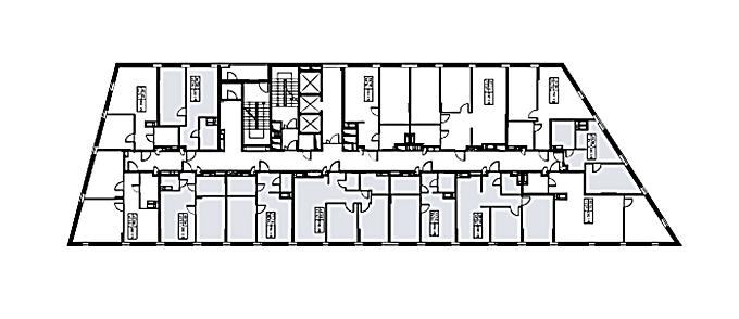 ЖК Терракота от Перфект групп поэтажный план первого дома
