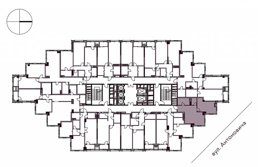 ЖК А136 Хайлайт Хаус поэтажный план