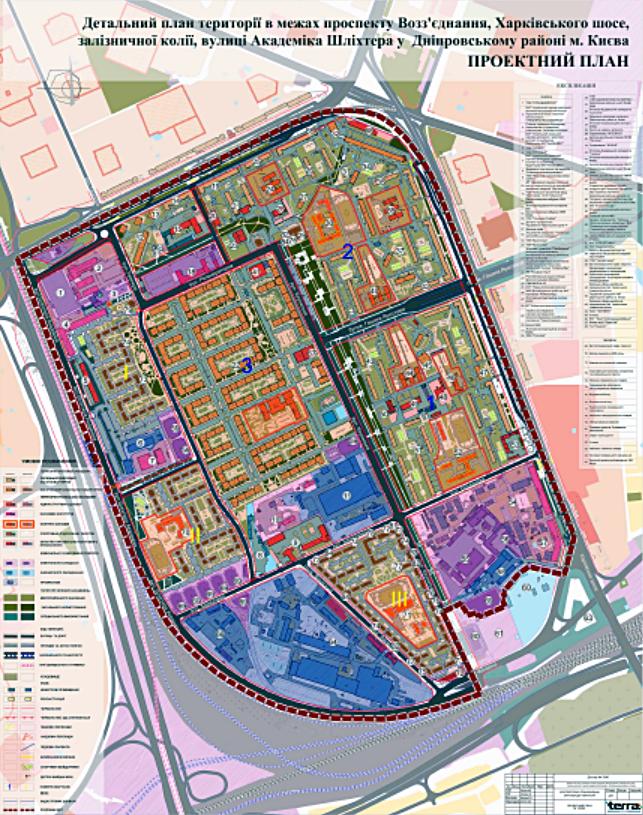 ДПТ промзоны Березняки проектный план