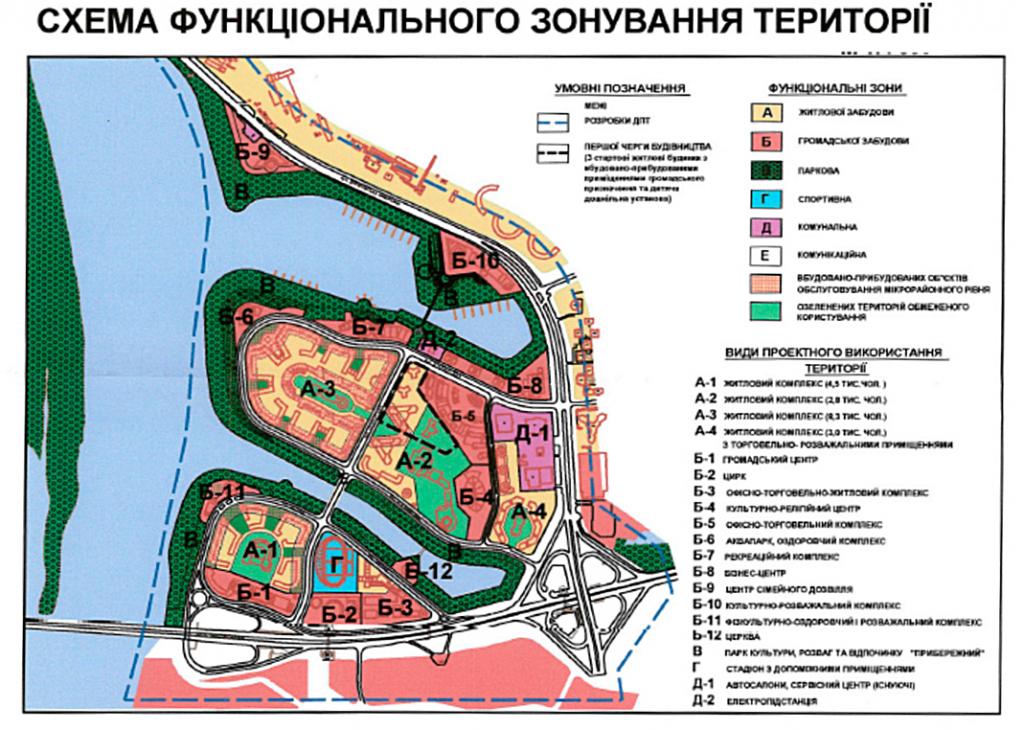 Детальный план территорий ДПТ Позняки Западные план зонирования
