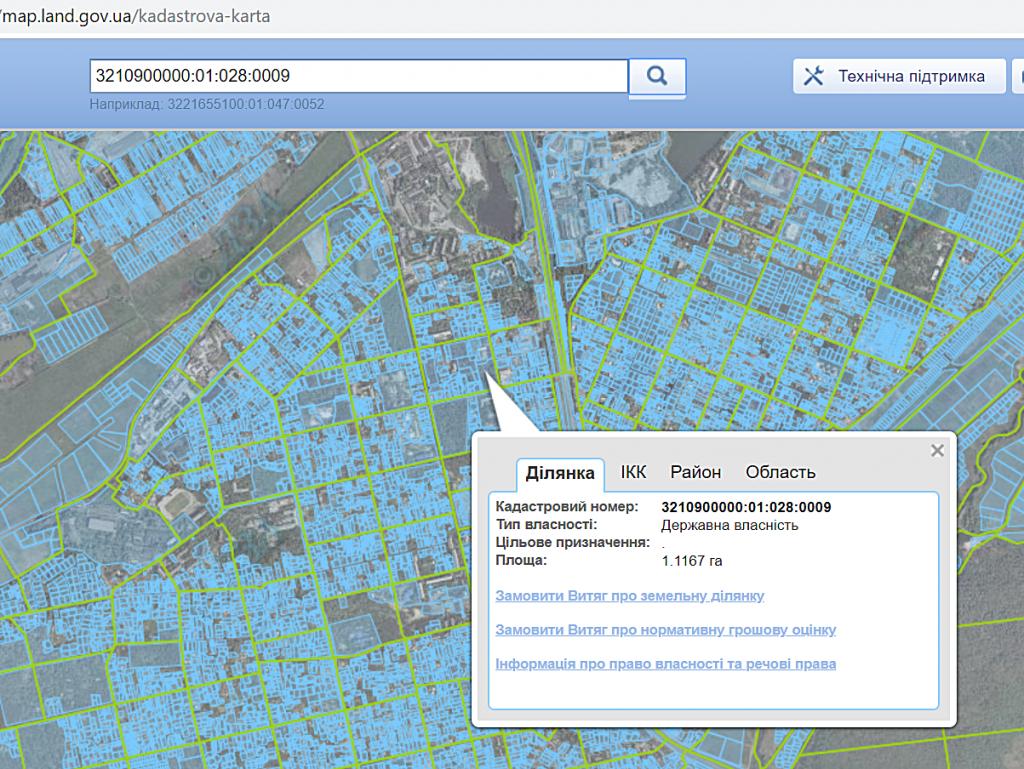 ЖК Фаворит 2 в Ирпене кадастровая карта