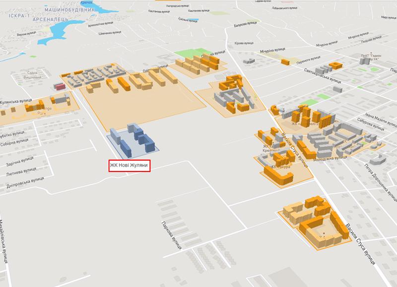 ЖК Новые Жуляны в Крюковщине на карте