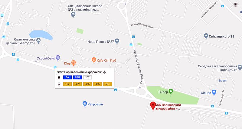 ЖК Варшавский микрорайон от Столица Групп остановка транспорта