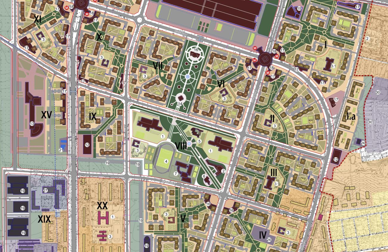 Детальный план территорий ДПТ микрорайона Виноградарь