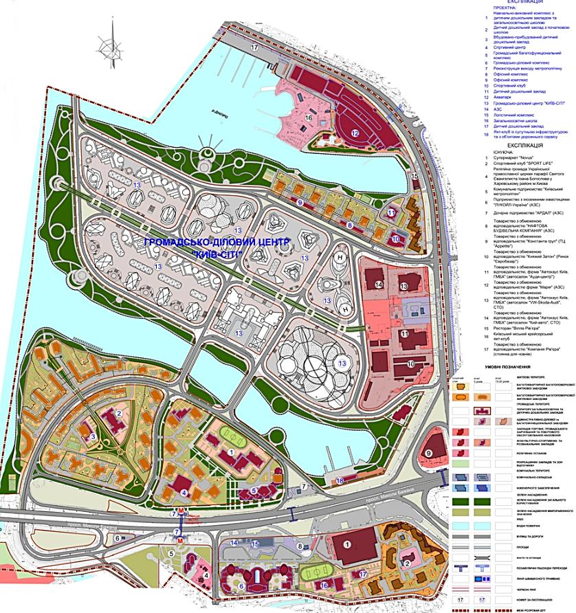 Детальный план территорий ДПТ Позняки Западные новый не утвержденный проектный план