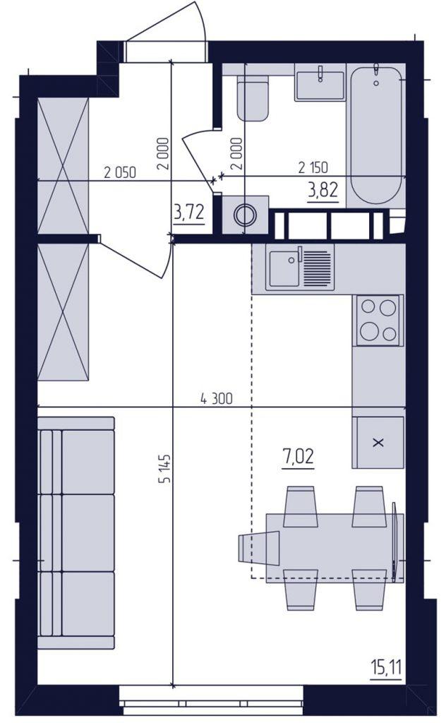 ЖК Современный квартал планировка квартиры студии