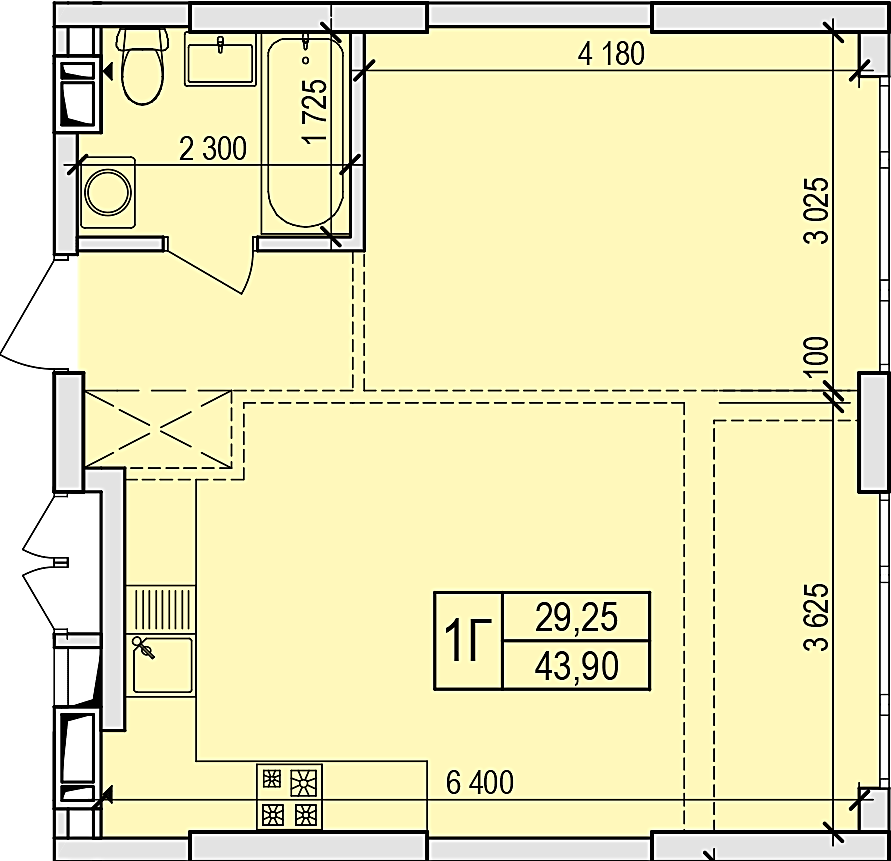 ЖК Новые Жуляны в Крюковщине планировка одно- двухкомнатной квартиры