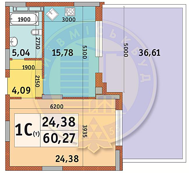 ЖК Итальянский квартал планировка квартиры с террасой