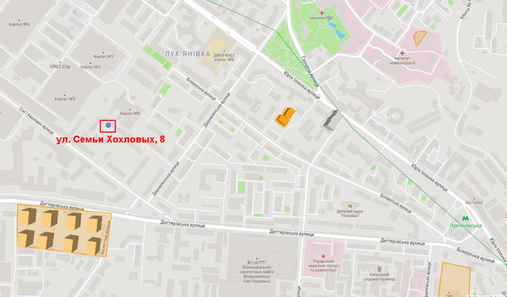 ЖК на ул Семьи Хохловых 8 на карте