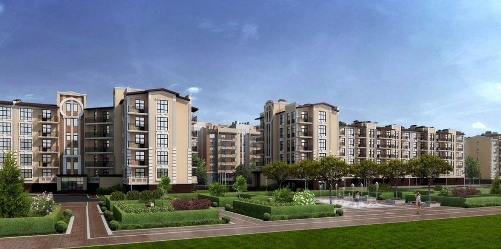 Клубный квартал Феофания парк ЖК Кришталеві джерела визуализация