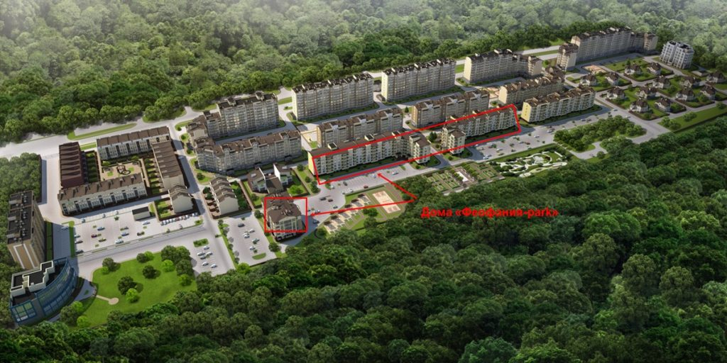 Клубный квартал Феофания парк ЖК Кришталеві джерела генплан