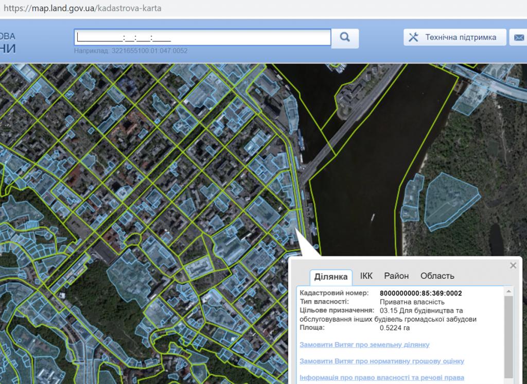 ЖК Ильинский данные кадастровой карты