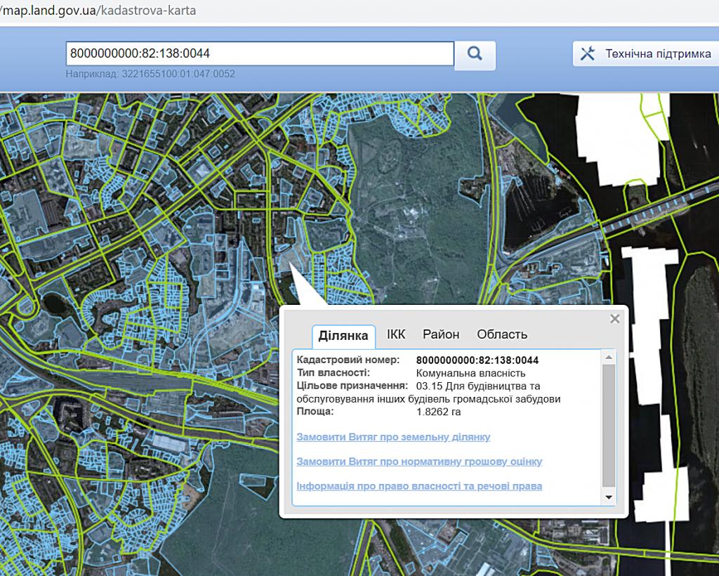 ЖК Печерск плаза 52 жемчужина данные о земле в кадастровой карте
