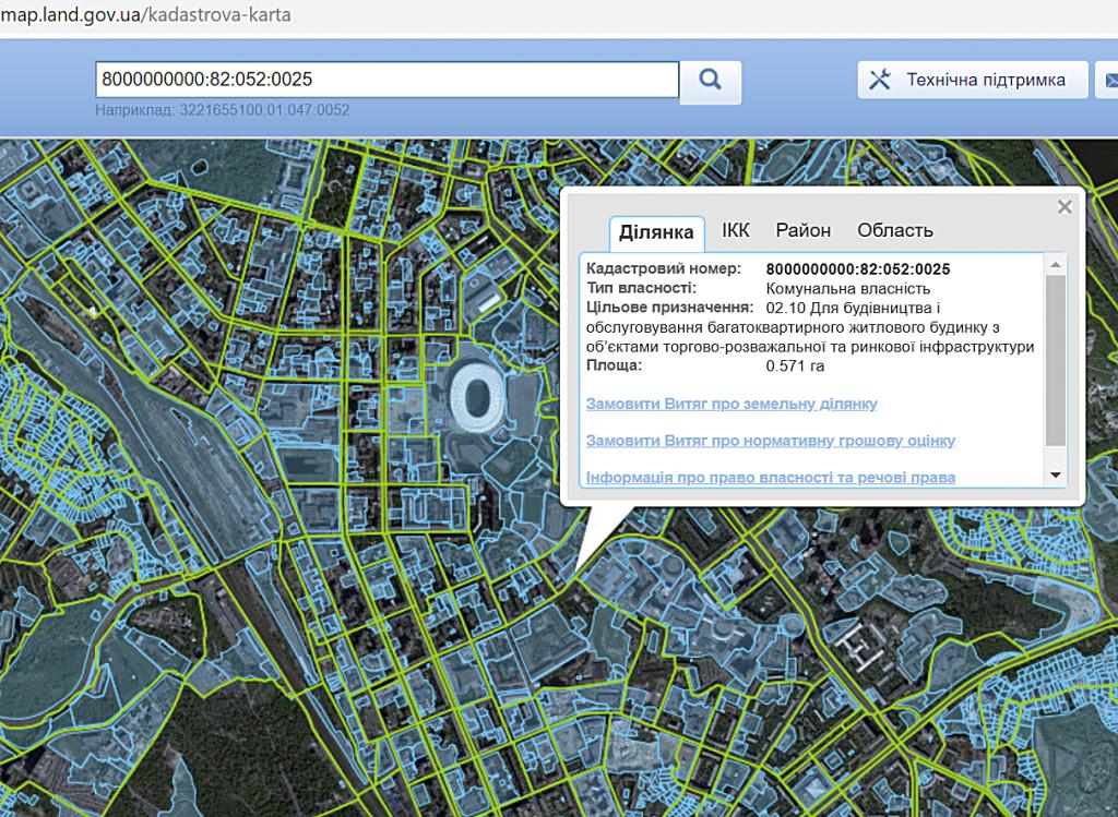 ЖК Диаданс от ЕНСО данные кадастровой карты