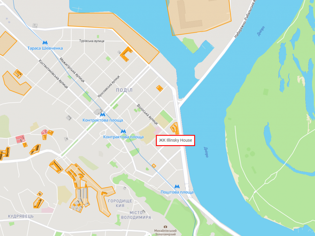 ЖК Ильинский на карте