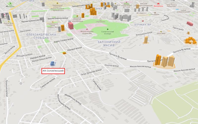 ЖК Соломенский на карте
