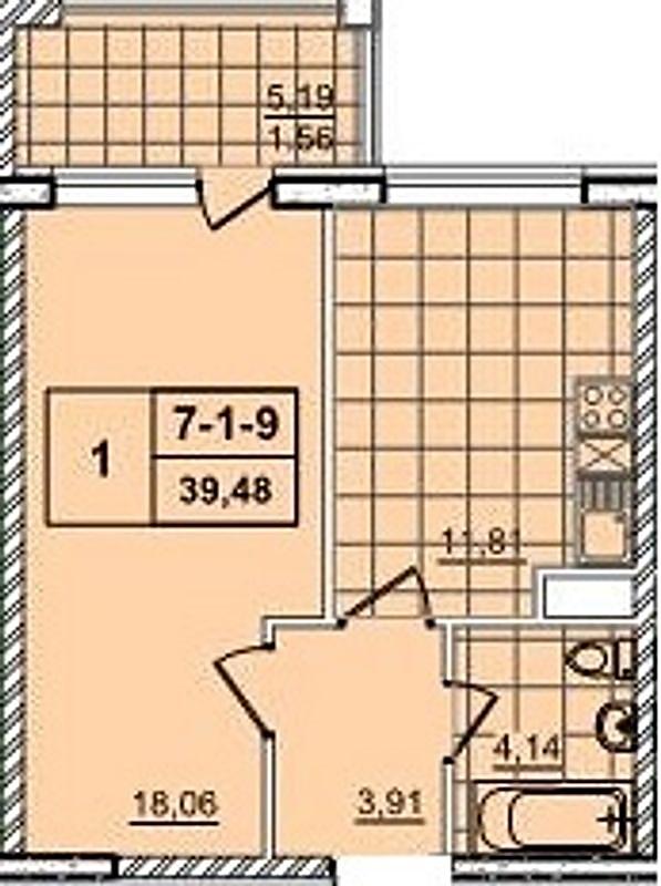 ЖК Печерск плаза 52 жемчужина планировка однокомнатной квартиры
