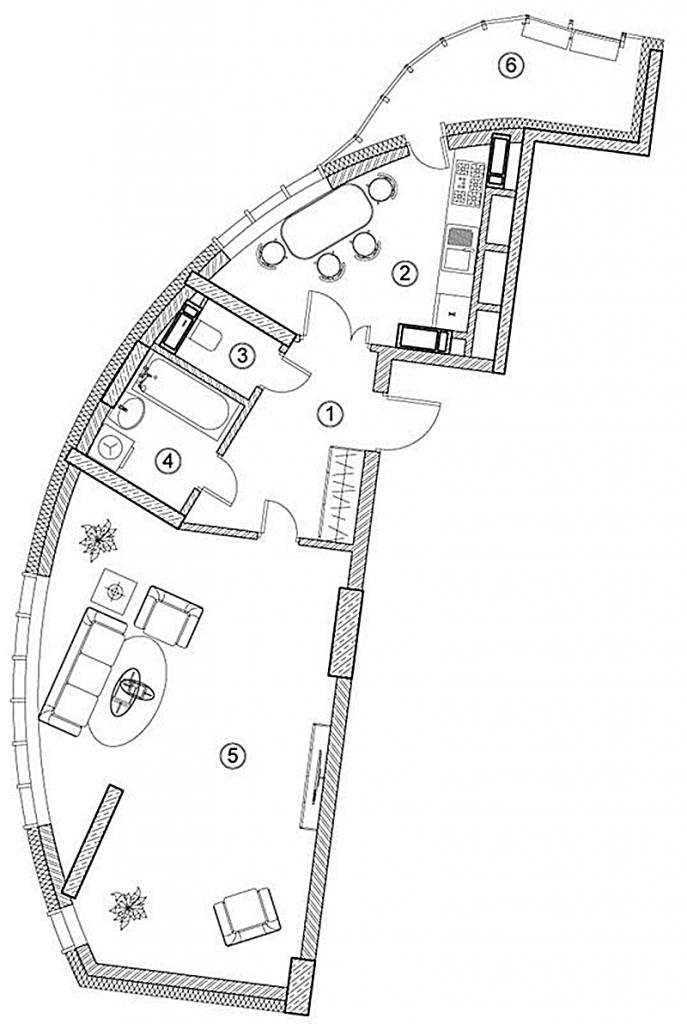 ЖК Ария от ГЕОС планировка однокомнатной квартиры