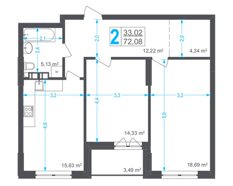 ЖК Соломенский планировка двухкомнатной квартиры