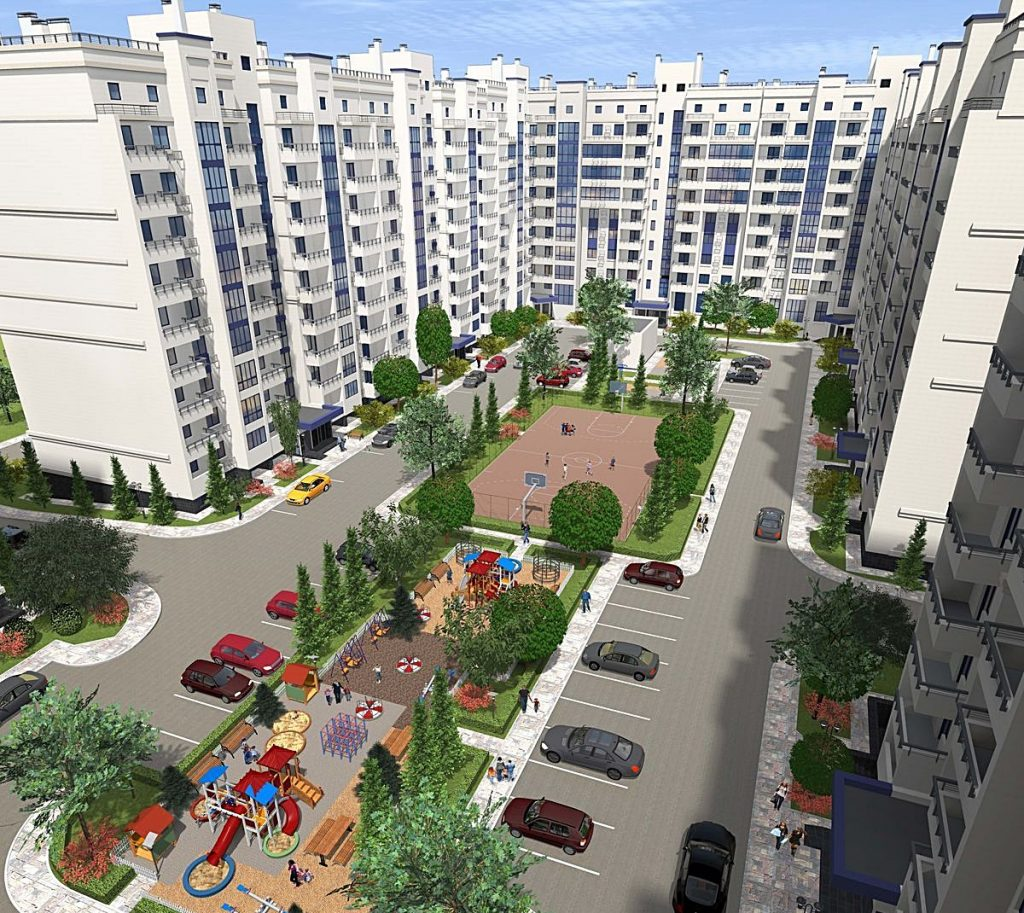 ЖК Чабаны Град внутренний двор