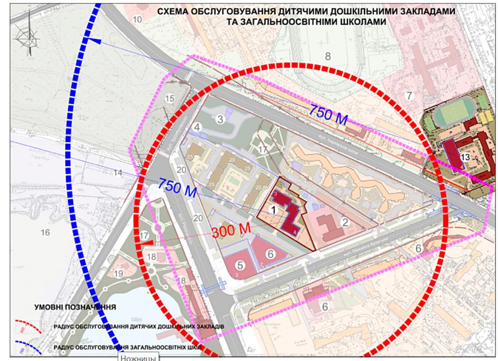 Детальный план территорий новая Дарница детсад и школа