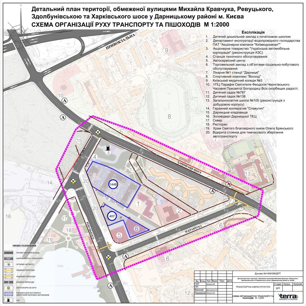 Детальный план территорий новая Дарница транспортная развязка