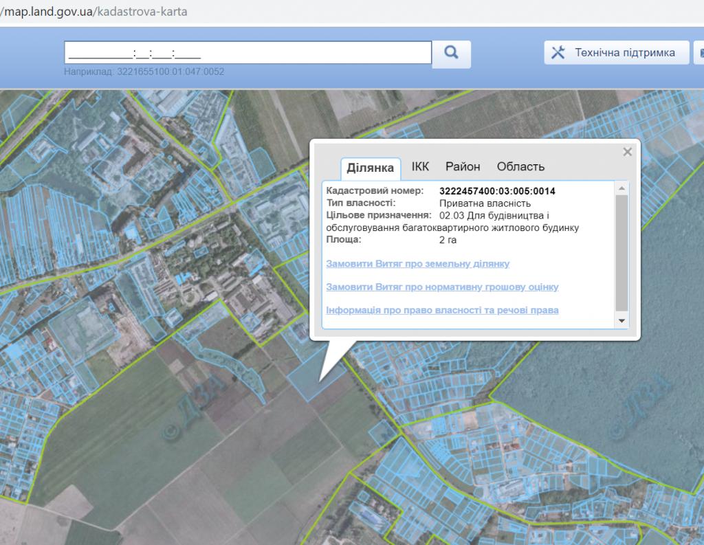 ЖК Чабаны Град данные кадастровой карты