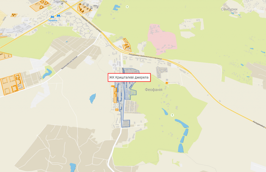 ЖК Кришталеві джерела на карте