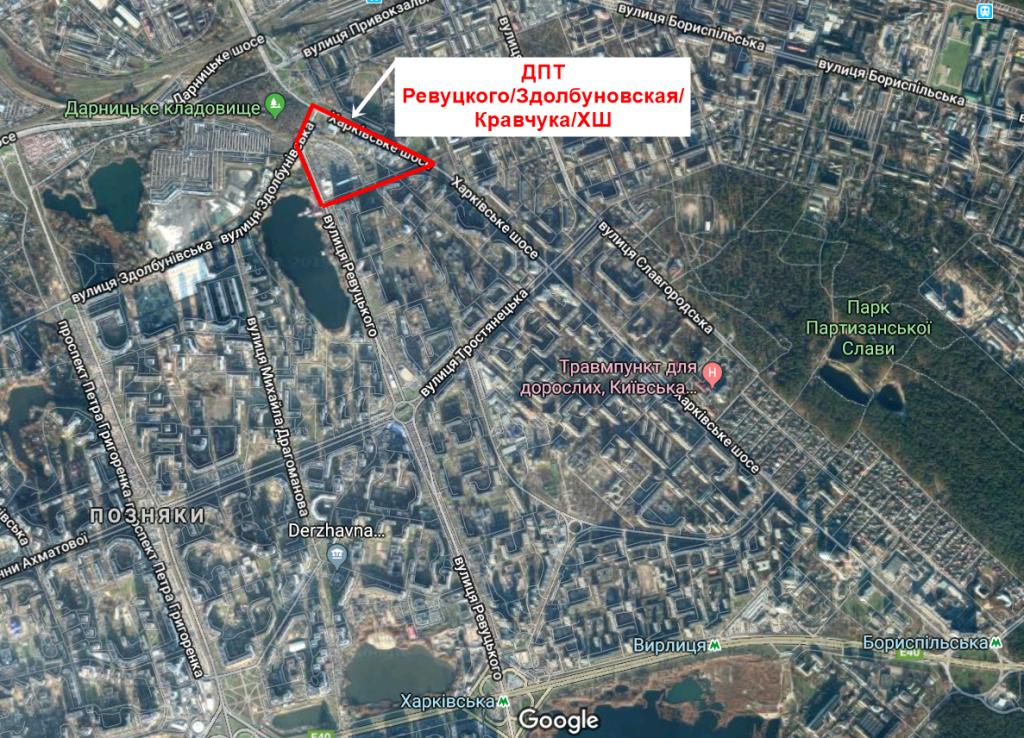 Детальный план территорий новая Дарница территория