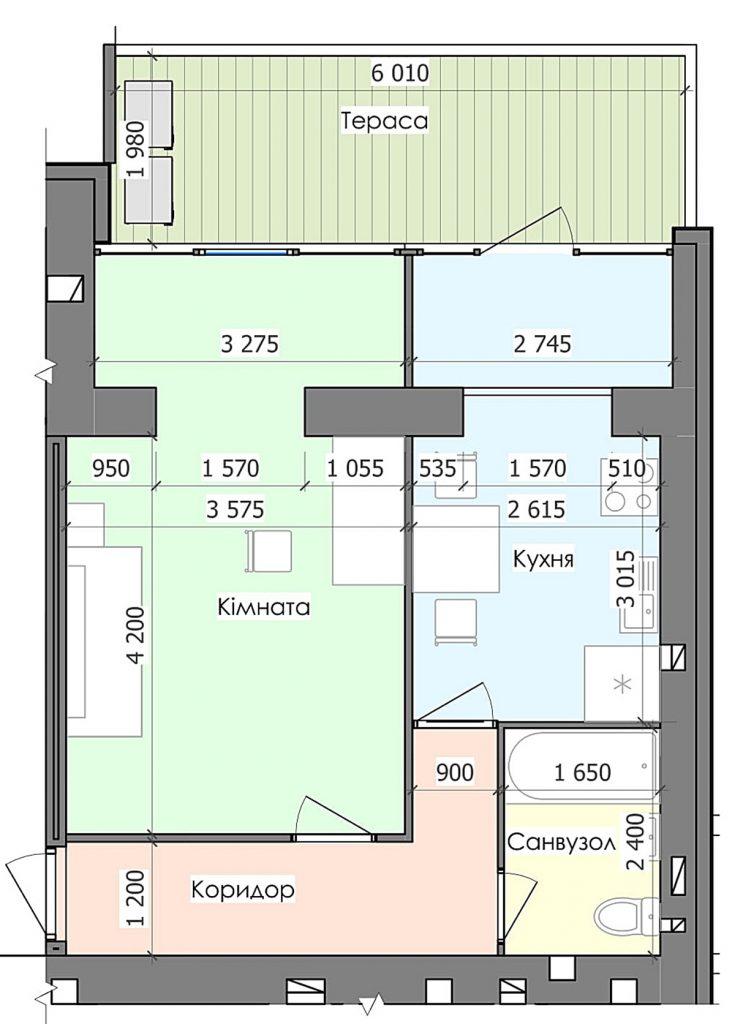 ЖК Гринландия в Глевахе квартиры с террасами